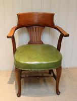 Edwardian Oak Office Chair
