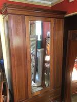 Antique Mahogany Wardrobe with Mirror Door