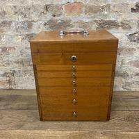 Mahogany Dentist Cabinet with Chrome Handle (7 of 9)