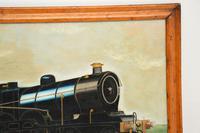 Antique Victorian Oil Painting Steam Locomotive Train (6 of 11)