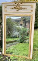French Painted & Gilded Trumeau Mirror (3 of 6)