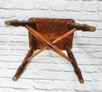 Small Elm Country Stool (5 of 6)