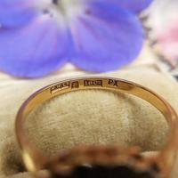 Art Deco 18ct Yellow Gold, Platinum, Sapphire & Diamond Ring (8 of 9)