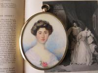 Hand Painted Edwardian Miniature Portrait Young Lady 1910 (5 of 5)