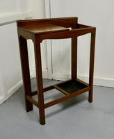 A Golden Oak Hall Table Stick Stand, (2 of 7)