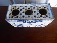 18th Century Delft Flower Brick (7 of 9)