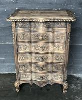 Antique Bleached Oak French Chest of Drawers (2 of 8)
