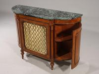 Attractive Early 20th Century Bow Ended Regency Style Mahogany Side Cabinet (4 of 5)