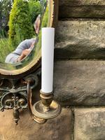 Pair of English Gilt Bronze Mirrored Wall Lights (4 of 8)