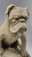 Rare Late 19th Century English Limestone Bulldog (12 of 14)
