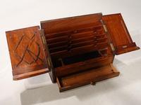 Beautifully Figured Late 19th Century Golden Oak Writing Box (4 of 8)