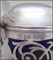Edwardian Pierced Silver Mustard Pot by Joseph Rodgers & Sons, Sheffield 1905 (5 of 7)