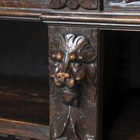 19th Century Flemish Carved Oak Open Breakfront Bookcase (3 of 9)
