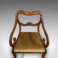 Antique Scroll Armchair, English, Mahogany, Buckle Back, Seat, William IV, 1835 (8 of 11)