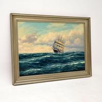 Antique Nautical Oil Painting (2 of 10)
