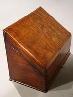 Beautifully Figured Late 19th Century Golden Oak Writing Box (2 of 8)