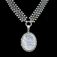Antique Victorian Aesthetic Large Sterling Silver Locket and Collar Necklace (11 of 11)