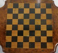 19th Century Inlaid Burr Walnut, Games Table (6 of 9)
