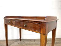 Victorian Two Drawer Mahogany Side Table (9 of 13)