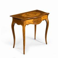 Victorian Inlaid Satinwood & Kingwood Table in the Style of Hepplewhite (5 of 10)