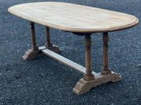 French Bleached Oak Farmhouse Refectory Dining Table (7 of 18)