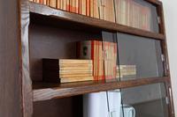1930s Vintage Oak Glazed Bookcase Cabinet (9 of 16)