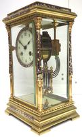 Awesome Antique French Champlevé Ormolu Bronze 8 Day Striking Mantel Clock c.1880 (9 of 13)