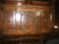 Glazed Oak Bureau Bookcase (5 of 7)