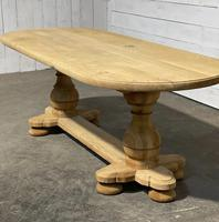 French Bleached Oak Monastery Dining Table (11 of 30)