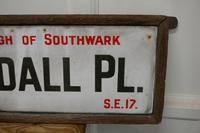 Framed Enamel Southwark Street Sign, Tisdall Place, London (4 of 4)