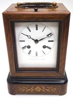Fine French Officers 8-day Mantel Clock – Rosewood Case With Satinwood Inlay (5 of 13)