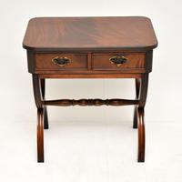 Antique Regency Style Mahogany Side Table (3 of 8)