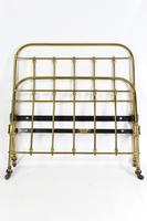 Antique Large Single Brass Bed by Hoskins & Sewell
