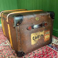 Steamer Trunk 1930s Art Deco Bentwood Travel Chest Coffee Table Storage (7 of 10)