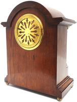 Superb Ansonia Oak Inlaid Mantel Clock Arched Top 8 Day Striking Mantle Clock (6 of 11)