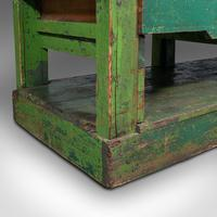 Large Antique Industrial Mill Table, English, Pine, Kitchen Island, Victorian (12 of 12)