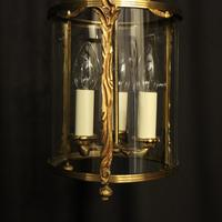 French Gilded Convex Antique Hall Lantern (2 of 7)