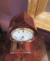 Antique Art Nouveau Inlaid Mantel Clock (4 of 7)