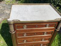 Fine Quality Brass Inlaid Commode (5 of 8)
