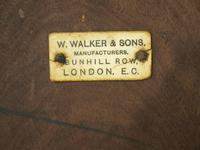 Set of 6 Red Walnut Captain's Chairs by W. Walker & Son (11 of 11)