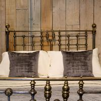 Late Victorian Cast Iron, Steel & Brass Antique Bed (7 of 9)