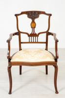 Very Pretty Art Nouveau Mahogany Elbow Chair (7 of 10)
