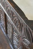 Antique Carved Oak Bench (8 of 12)