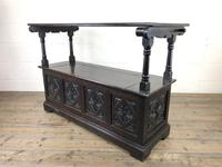Early 20th Century Stained Oak Monk's Bench (5 of 14)