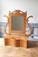 Swedish Birch / Masurbjörk Box Mirror Rococo style c.1820 (10 of 15)