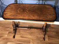 Victorian Burr Walnut & Amboyna Centre Table (3 of 14)
