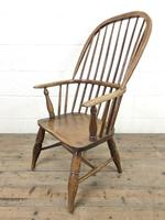 Antique Stick & Hoop Back Armchair (6 of 10)