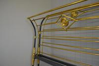 Rare Antique Victorian R.W Winfield 5ft King Size Brass & Iron Sleigh Bed (16 of 21)