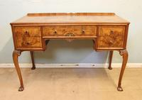 Quality Burr Walnut Side Table Writing Desk (7 of 14)