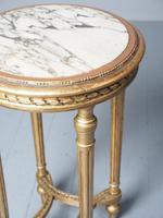 Antique Louis XV Style Giltwood Occasional Table (6 of 8)